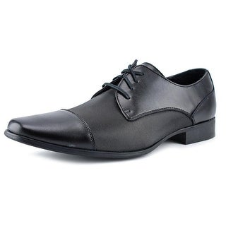 Calvin Klein Bram Men  Cap Toe Leather Black Oxford