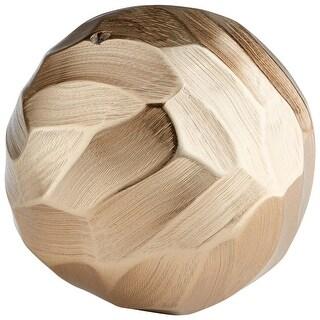 "Cyan Design 09800  Delovine 4-1/4"" Diameter Aluminum Decorative Sphere - Champagne"
