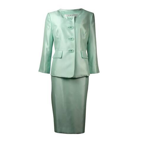 Le Suit Women's The Hamptons Dupioni Slub Skirt Suit