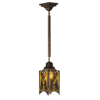 Meyda Tiffany 49124 Stained Glass / Tiffany Foyer Pendant from the Cottage Mission Collection