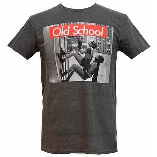 Batman & Robin Old School Wall Climb Vintage TV Show Men's Graphic T-Shirt