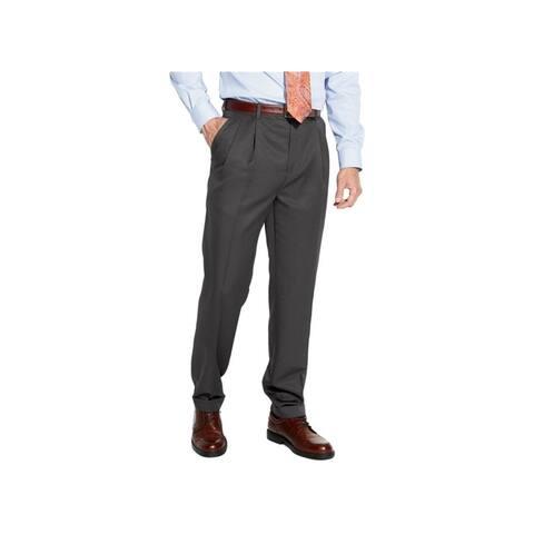Croft&Barrow Mens No-Iron Microfiber Dress Pants Slacks, Grey, 29W x 30L - 29W x 30L