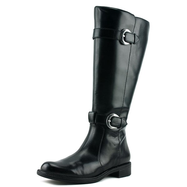 David Tate MUSTANG Women W Round Toe Synthetic Black Knee High Boot