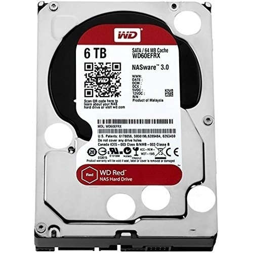 "Wd Red Wd60efrx 3.5"" 6Tb Nas Hard Disk Drive 5400 Rpm Sata 6Gbps 64Mb Cache"