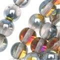 Czech Glass Druk Round Beads 6mm Crystal Marea (50) - Thumbnail 0