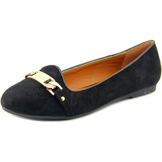 Electric Karma Michelle Women Round Toe Canvas Black Flats