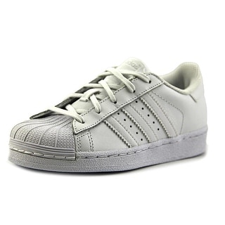 Adidas Superstar Foundation C Youth Round Toe Synthetic White Sneakers