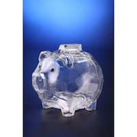 Pack of 6 Icy Crystal Decorative Functional Piggy Bank with Removable Plug 4.5""
