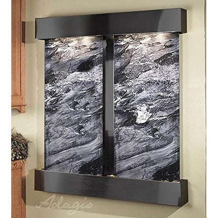 Adagio Cottonwood Falls Fountain w/ Black Spider Marble in Rustic Copper Finish - Thumbnail 0