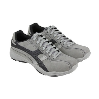 Skechers Larson Almelo Mens Gray Leather Casual Dress Lace Up Oxfords Shoes