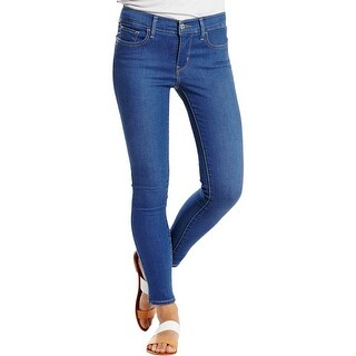 Levi's Womens Juniors Skinny Jeans Denim Mid-Rise