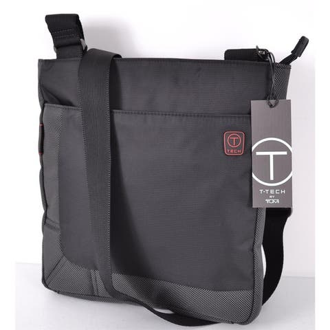 Tumi T Tech 51239 Black Nylon Top Zip Crosby Crossbody Messenger Bag