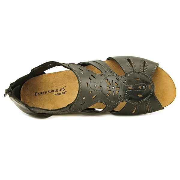 Open Toe Leather Black Gladiator Sandal