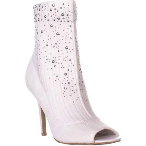 Charles By Charles David Rancid Peep Toe Sock Boots, Winter White - 7 US