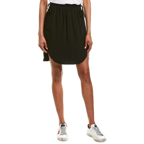 James Perse Tie-Front Mini Skirt