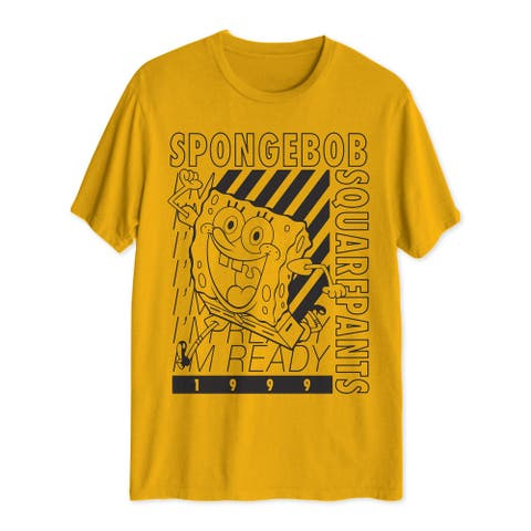 JEM SPORTSWEAR Mens Gold Graphic Short Sleeve Crew Neck Classic Fit Sweatshirt L