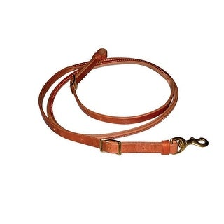 "Berlin Custom Leather Rein Hermann Oak Harness Rolled Roper - 3/4"" x 7'"