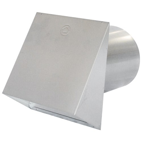 Air King PWC6R 6 Inch Round Galvanized Steel Wall Cap with Integrated Damper