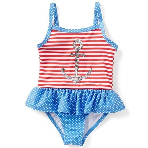Penelope Mack Baby Girls 12-24 Months Anchor Swimsuit