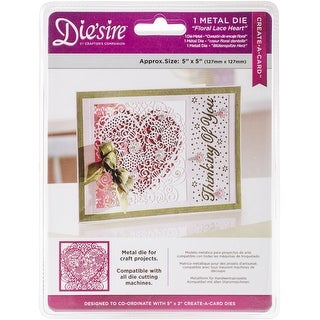 """Die'sire Create-A-Card Interchangeable Dies-Floral Lace, 5""""X5"""""""