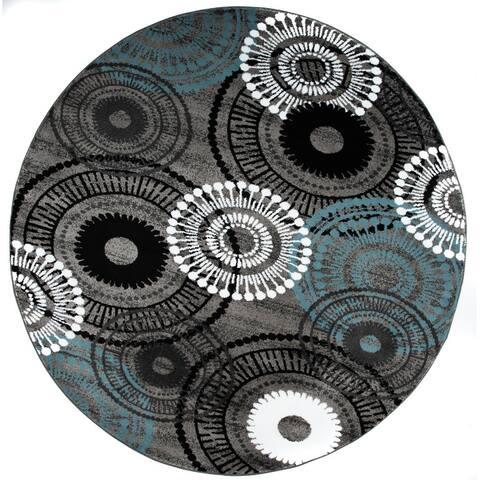 Contemporary Circles Area Rug