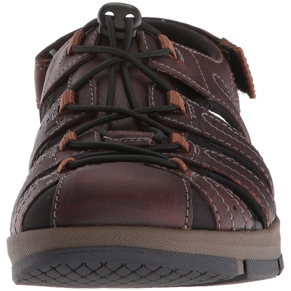 34687bf3 Clarks Mens Brixby Cove Leather Closed Toe Sport Sandals