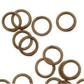 Antiqued Brass Closed Jump Rings 4mm 22 Gauge (20) - Thumbnail 0