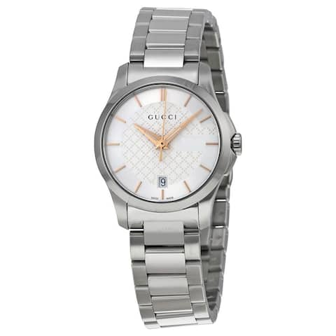G-Timeless Silver Dial Stainless Steel Ladies Watch - One Size