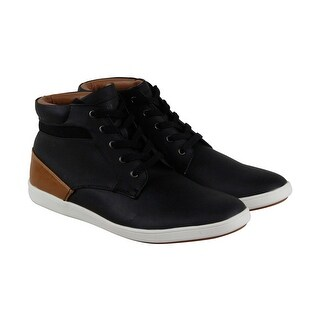 Steve Madden P Framed Mens Black Leather High Top Lace Up Sneakers Shoes