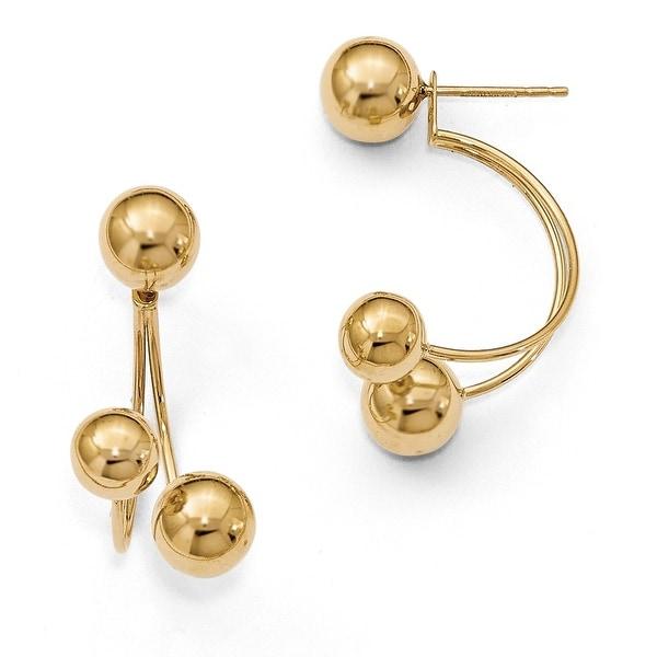 14k Tri Ball Post Gold Earrings