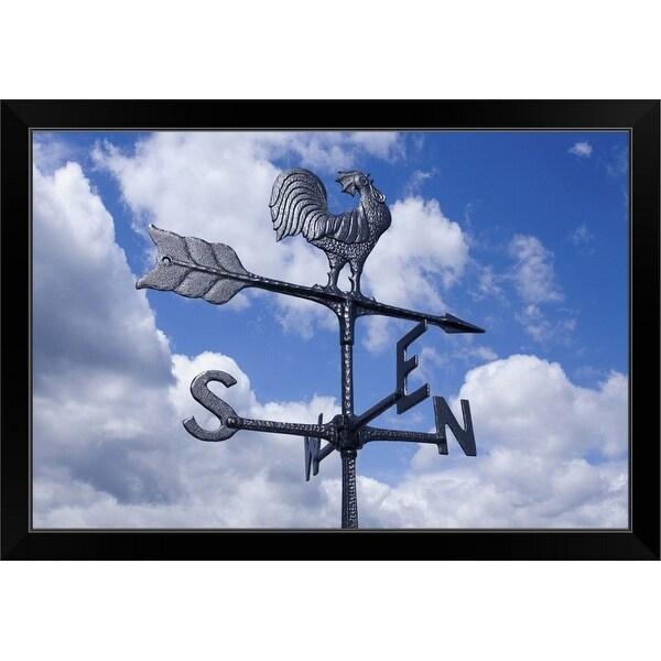 """Weathervane"" Black Framed Print"