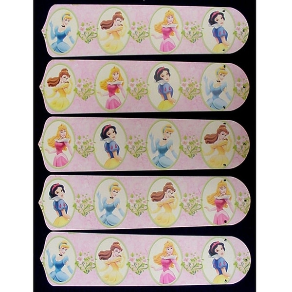 Disney Dancing Princesses Custom Designer 52in Ceiling Fan Blades Set - Multi