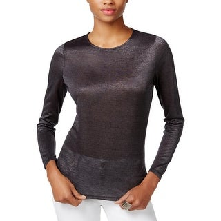 Guess Womens Reyna Casual Top Shimmer Form Fitting