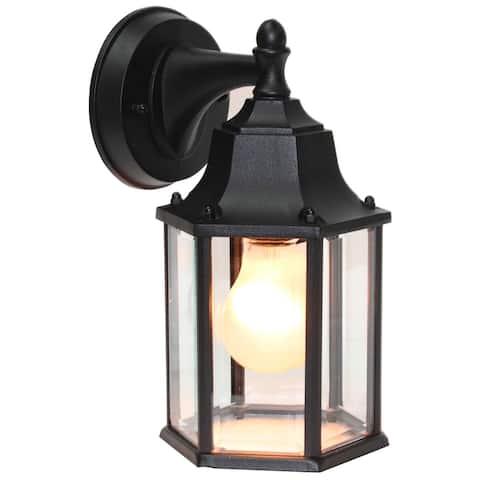 1 Light Outdoor Wall Lighting in Black
