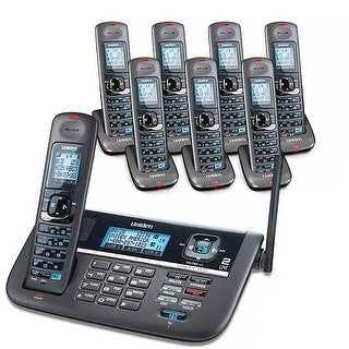 Uniden DECT4086-8 Two-Line Expandable Eco-Friendly Phone with 8 Extra Handsets