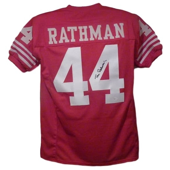 e203aca309d Shop Tom Rathman Autographed San Francisco 49ers size XL red Jersey JSA -  Free Shipping Today - Overstock - 19983635