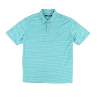 Tommy Bahama NEW Alpine Pool Green Mens Size 2XL Stripe Spectator Polo Shirt 545