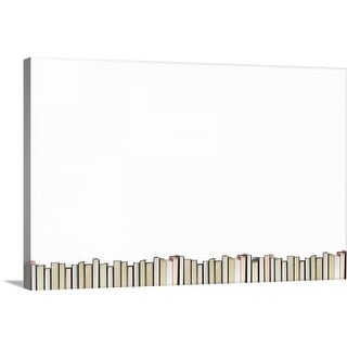 """""""Row of books"""" Canvas Wall Art"""