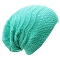 Wave Crochet Lightweight Beanie Hat - Thumbnail 0