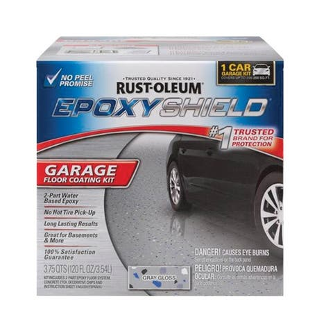 Rust-Oleum 251965 Epoxy Shield Garage Floor Kit, Gloss Gray