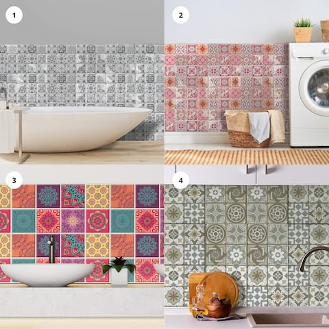 Walplus 3D Sticker Tile Splashbacks Mosaics Bathroom Kitchen DIY Decor