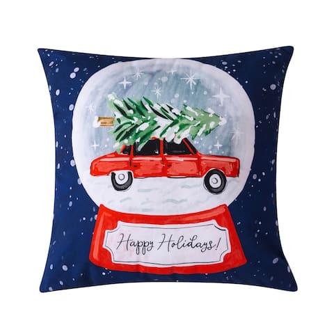 Sara B. Snowglobe Decorative Pillow