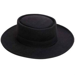 Mad Style Black Felt Flamenco Hat