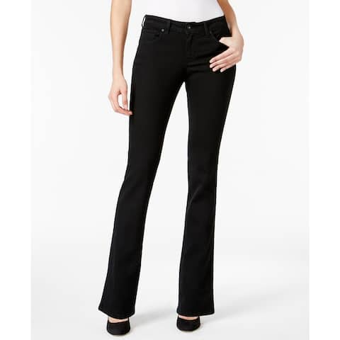 Style & Co Women's Curvy Boot-Cut Jeans Black Size 10