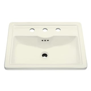 "Mirabelle MIRKW458A Key West 22-5/8"" Drop In Bathroom Sink with 3 Holes Drilled and Overflow - N/A"