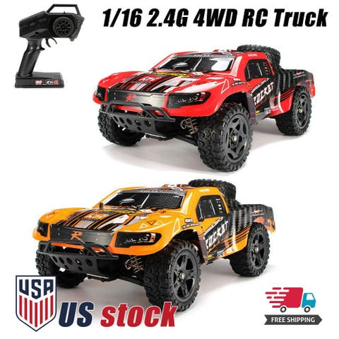 REMO 1621 2.4G 4WD RC Truck Car Waterproof Brushed Short Course SUV 1/16 50km/h