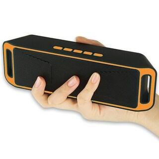 Indigi® Orange Portable Bluetooth Wireless Speaker FM Sub-woofer Super Bass HIFI Stereo