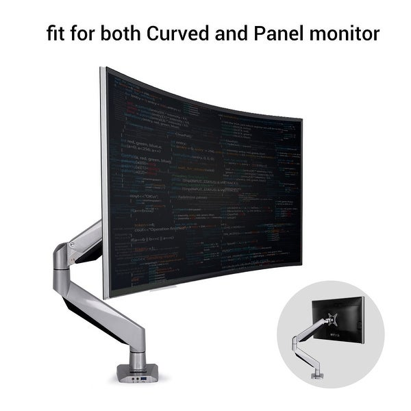 Loctek D7R Monitor Mount fits for both Curved and Panel 10- 34 inch Monitors Desk Top LCD Monitor Arm,Weighting 8.8-22 lbs