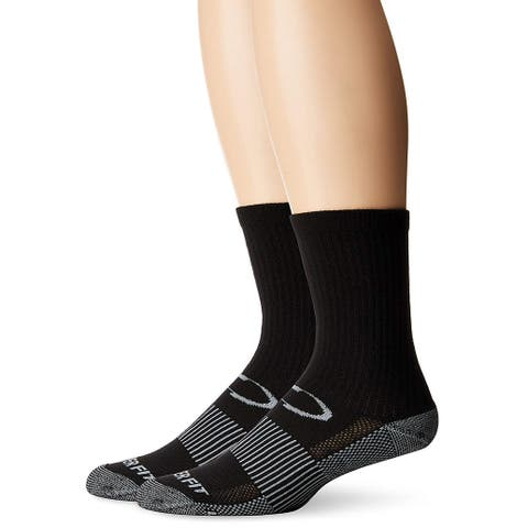 Copper Fit Unisex-Adult's Crew Sport Socks-2 Pack,, Black, Size Large / X-Large - Large / X-Large