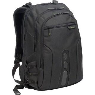 Targus TBB019USB Targus Spruce EcoSmart Backpack Case Designed for 17-Inch Laptops, Black/Green Accents (TBB019US)